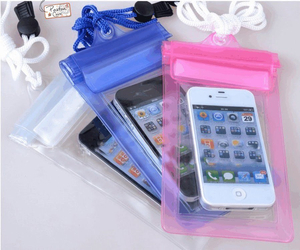 Universal Cheap Waterproof PVC Travelling Phone Bag for Smartphone Thailand Water Sprinkling Festival