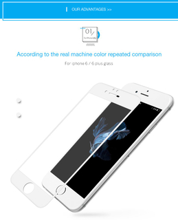 3D Curved Glass Screen Protector Protective Film for iPhone 6/6plus