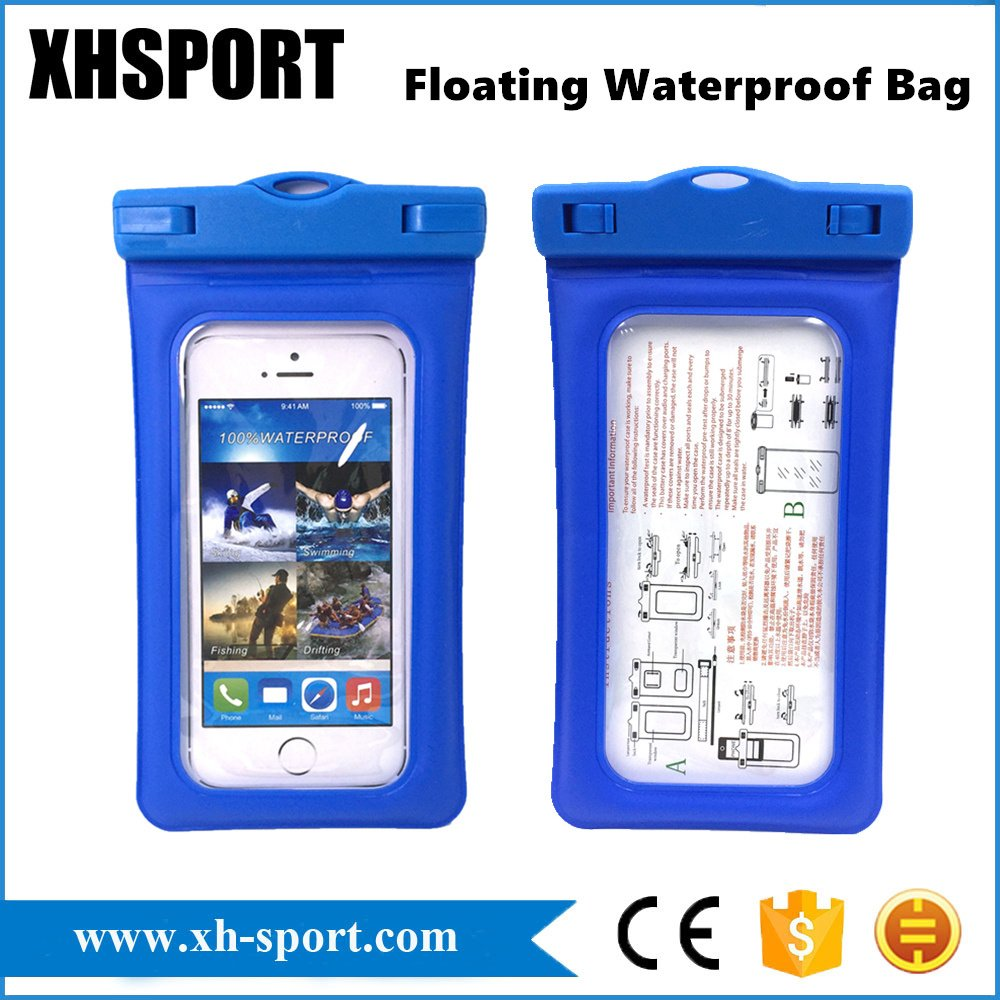 Inflated Floating Beach Swimming Waterproof Cell/Mobile Phone Bag