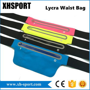 Lycra Running Outdoor Sport Waterproof Waist Bag with Earphone Hole