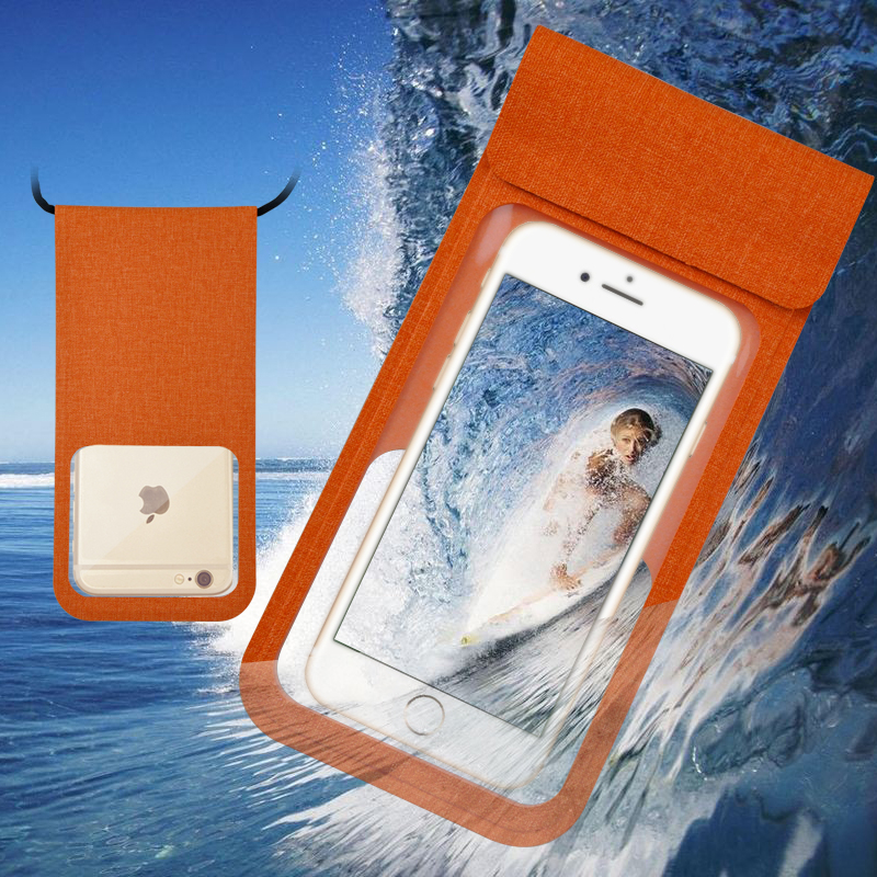 PU Waterproof Cellphone Bag, Universal Waterproof Pouch for Swimming