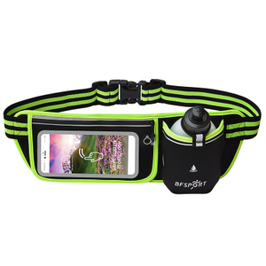 Marathon Outdoor Fashion Waist Bag with 300 Ml Single Kettle Flip Cover Waist Bag Touch Screen Luminous Waist Bag for Running
