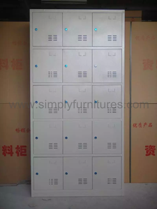 China steel locker with 15 doors