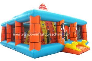 RB13010(8x8x6m) Inflatable Climbing Wall Game/Inflatable Customized Climbing Bouncer