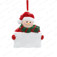 Snowman Hold Board Ornament Personalized Christmas Tree Ornament