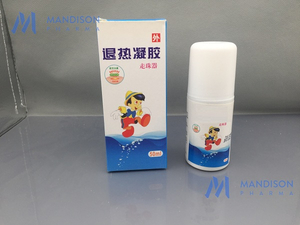Antipyretic plaster gel