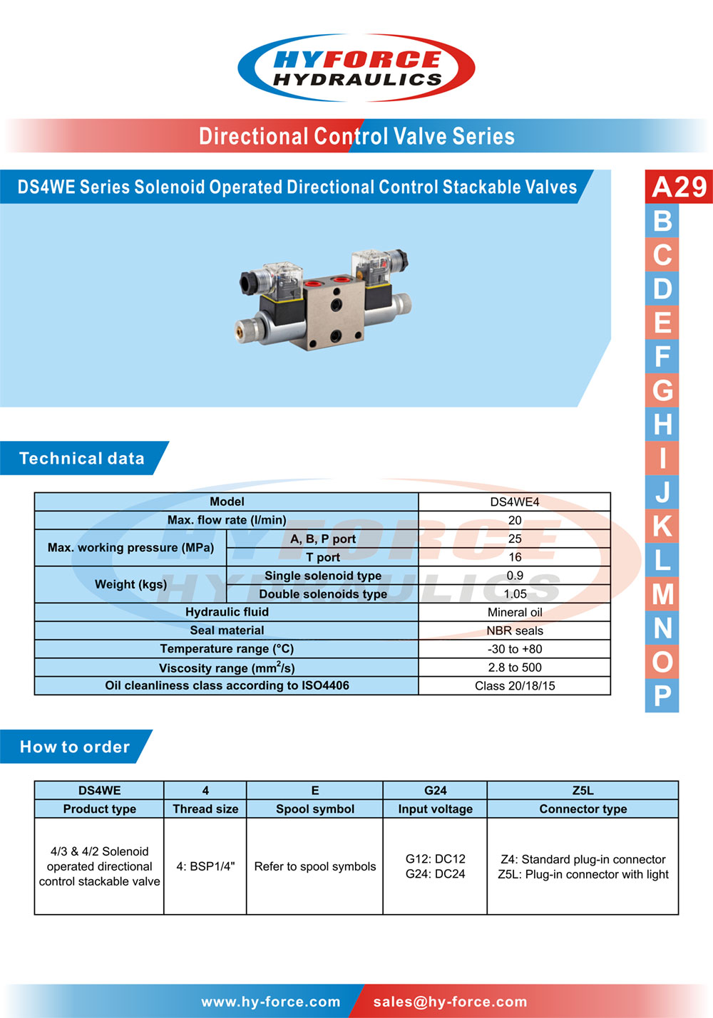 Ds4we series solenoid operated directional control stackable technical data how to order spool symbols dimensions biocorpaavc Choice Image