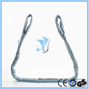 WLL 4T Eye and Eye Polyester Round Sling