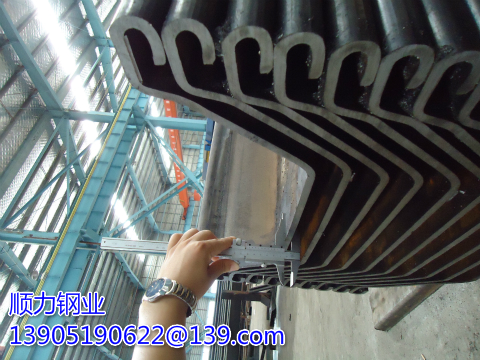 What are the causes of damage in the construction of Larsen steel sheet pile cofferdam