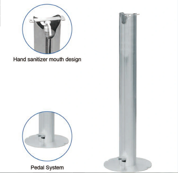 Foot Pedal Hand Sanitizer Dispenser with Floor Stand Fyp-0019