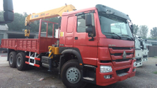 HOWO 6x4 Truck with XCMG 14T Crane