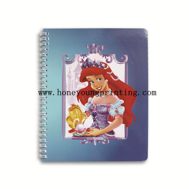 Spiral cartoon lined notebook for student corner rounding laminated cover assorted designs