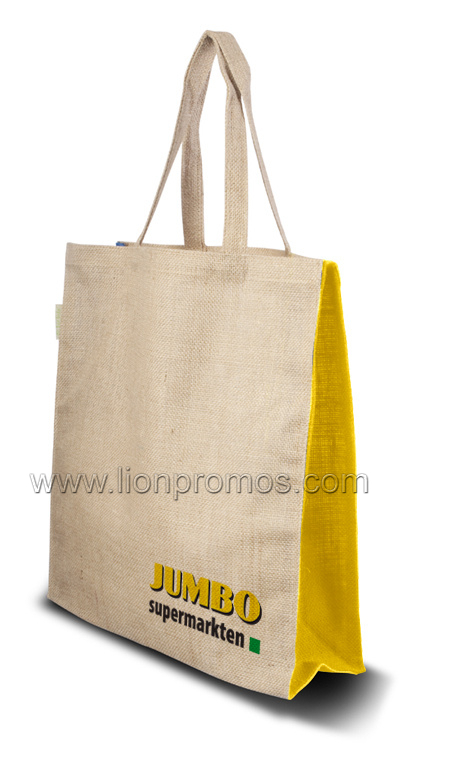 Custom Logo Promotional Jute Shopping Bag