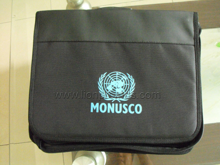 United Nation MONUSCO Logo Office Meeting Document Holder Bag
