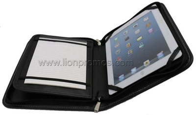 Corporate Business Gift PU Leather Compendium Bag with iPad Holder