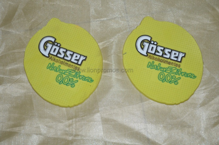 Customized Shape Logo Embossed PVC Cup Coaster