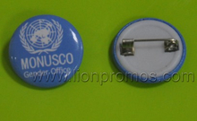 United Nation Events Giveaways Logo Printed Tin Plate Badge