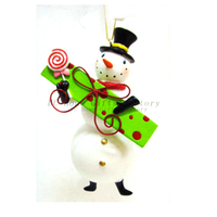 Resin Couples Snowman,Christmas tree decoration