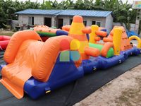 Outdoor Commercial Inflatable Water Obstacle Course for Sale