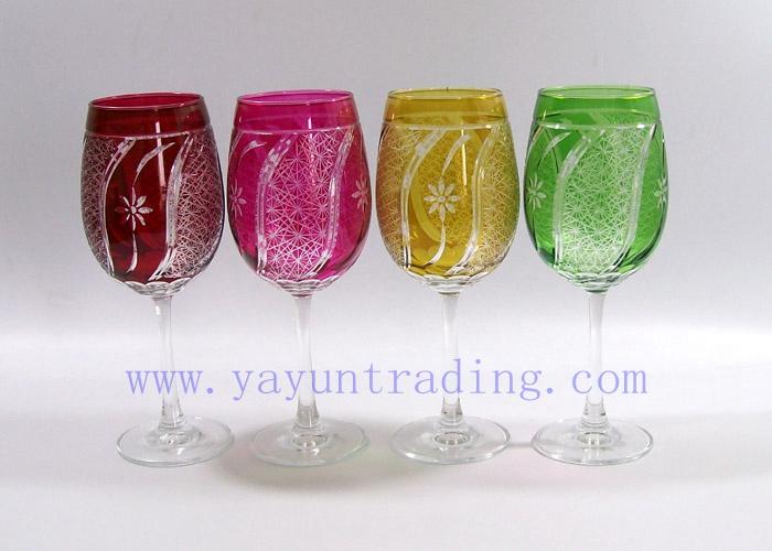 colored wine glass champagne flute