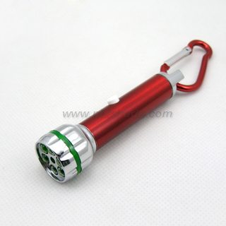 2 function Laser & LED Torch with carabiner clip