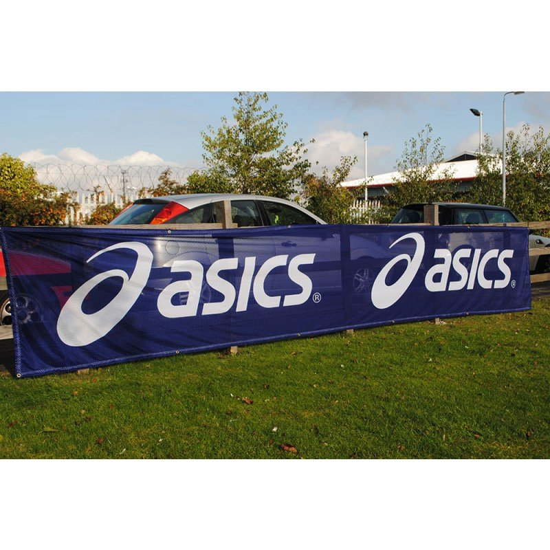 Custom Made Outdoor Construction Fence Polyester Fabric Mesh Event Advertising Banner, Advertisement Promotion Banner