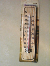 A007 Wooden Thermometer