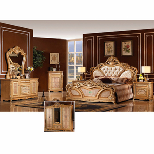 W808 Antique Bedroom Furniture Set with Classic Bed