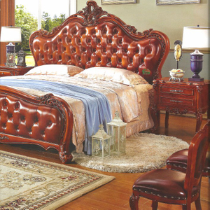 Bedroom Bed and Wardrobe for Classic Bedroom Furniture Set