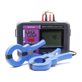 ST2124 Double Clamp Grounding Resistance Tester