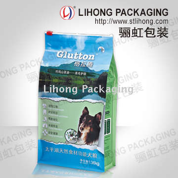 Non-toxic Safety Cat Pet Food Packaging Bags With Square Bottom