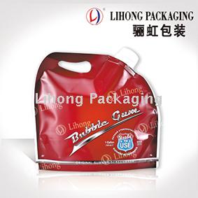 Big volume liquid detergent standing pouch