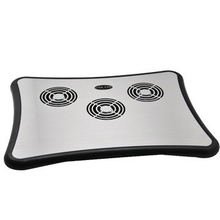 Aluminium Notebook Cooling Pad Non-Slip Mat with 4 USB Hub Style No. CF-303