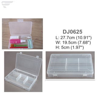 DJ0625 Medium Sized Clear 5 Dividers Box