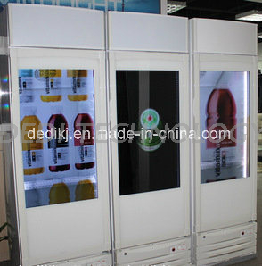 Dedi Hot Sale Transparent LCD Screen Refrigerator Glass Door /LCD Display Glass Door Refrigerator