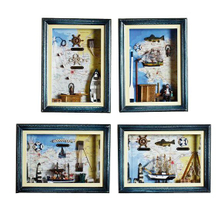 Fashionale Popular Wooden Nautical Knots Frame, Decorative Wooden Knots Frame