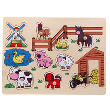 Wooden Farm Puzzle Toys for Children