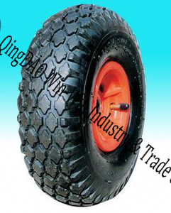 "Pneumatic Rubber Wheel for Garden Hand Track (10""X3.00-4)"