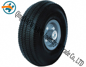 "Wear-Resistant Rubber Wheel for Trolley (10""X4.10/3.50-4)"