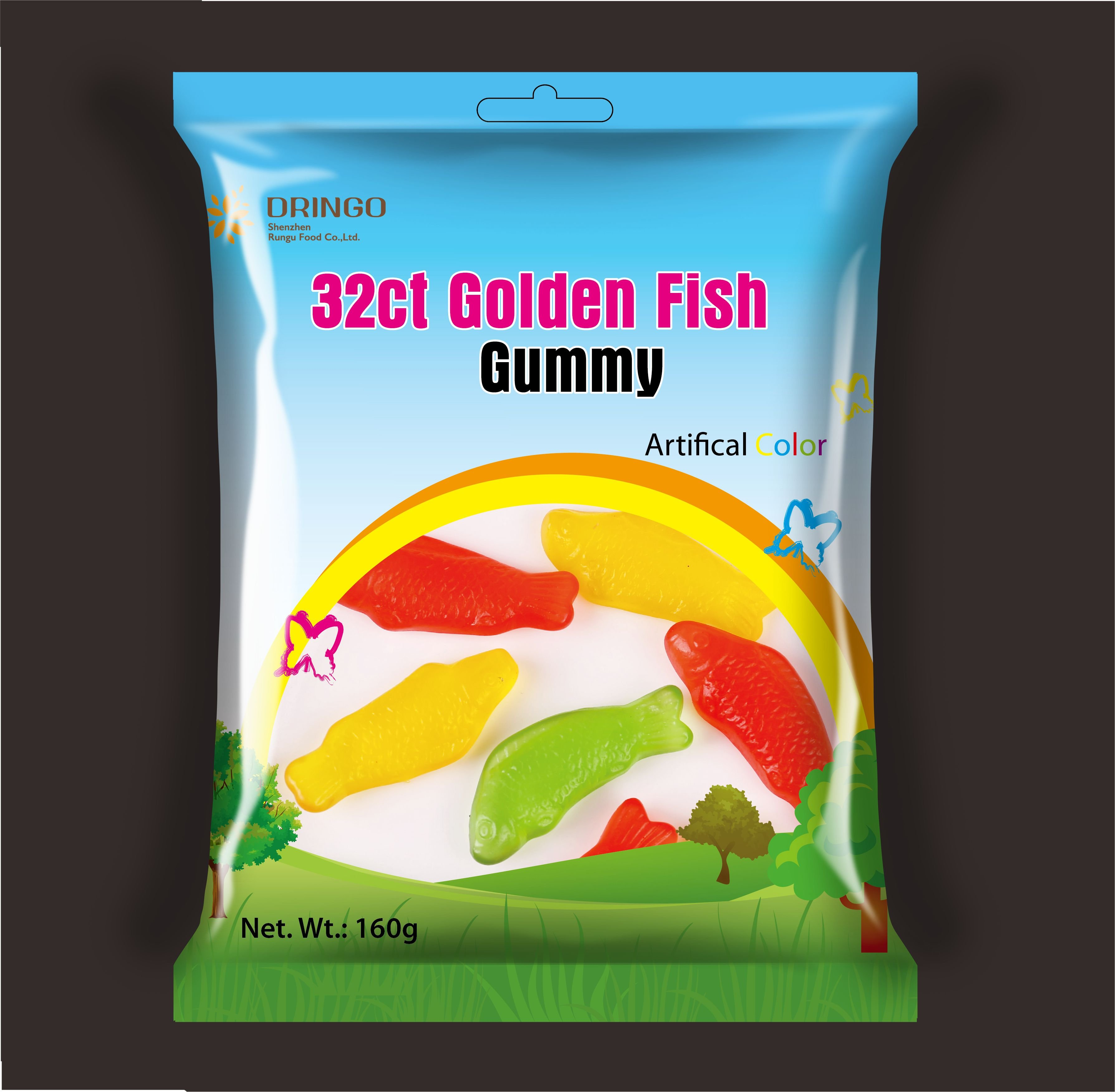 Spring&Summer Goldfish Gummy Candy