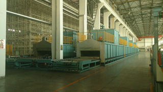 roller hearth type core drying oven