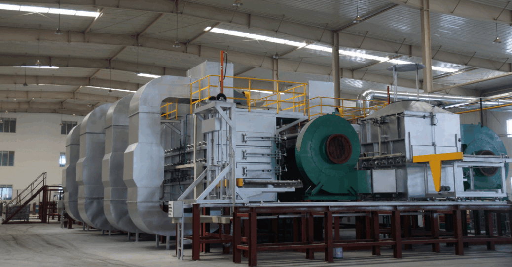 Air quenching furnace for aluminium alloy