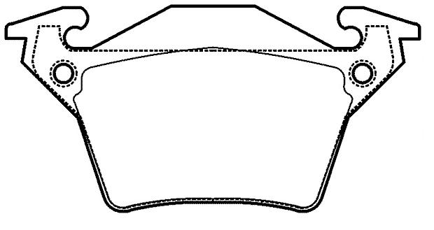 Brake pad for MERCEDES BENZ