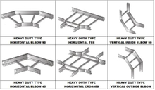 Heavy Duty Cable Ladder Tray Accessories Hozizontal Tees/Crosses/Vertical Outside/Inside Elbows