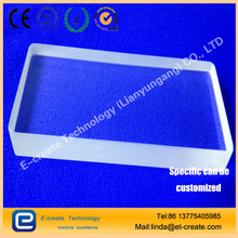 Transparent Punching Shaped Stereo Film Scrubber High Temperature Window Customized Slotted Shaped