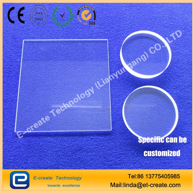 Quartz glass, quartz sheet drilling, quartz round audition, square window