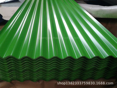 18/28 Gauge Corrugated Prepainted Galvanized Steel Roofing Sheet in Africa