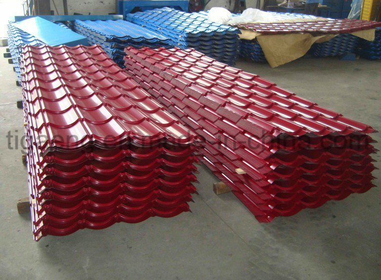 High Quality Easy Fabrication Color Coated Galvanized Step Tile