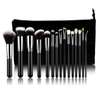 15pcs professional luxury complete makeup brush set bag