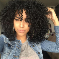 New Fashion Kinky Curly Wig Curly Synthetic Wigs natual